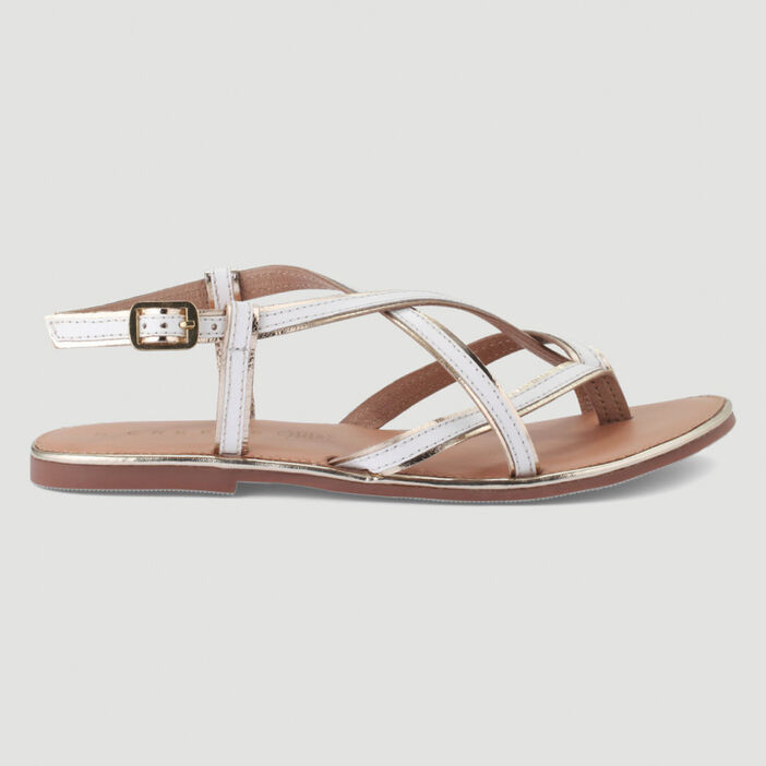 Sandales avec entre-doigt femme blanc
