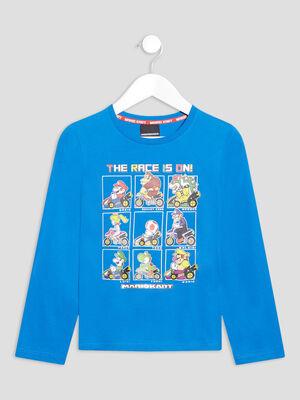 T shirt Mario Kart bleu garcon