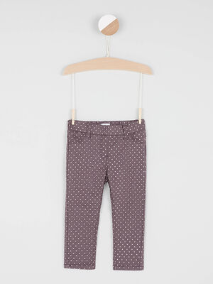 Jegging a motif coton majoritaire taupe bebef