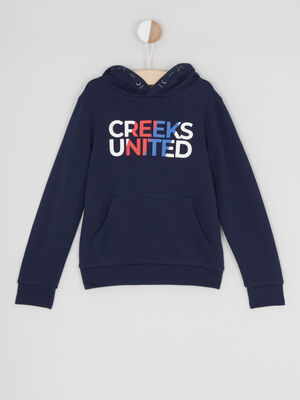 Sweat a capuche Creeks bleu garcon