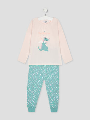Ensemble pyjama rose fille