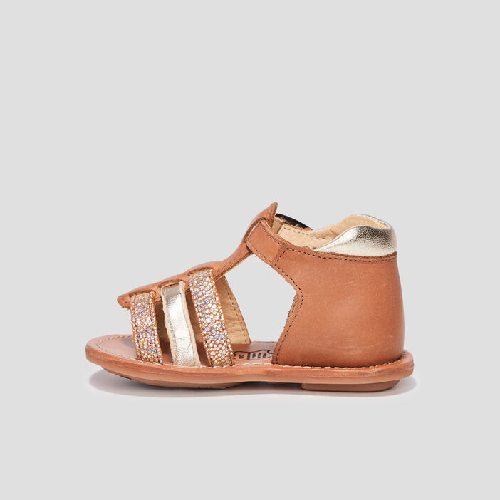 Sandales bébé fille camel
