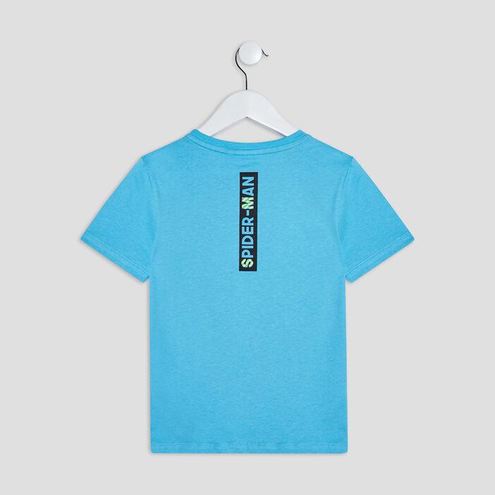 T-shirt Spider-Man garçon bleu turquoise