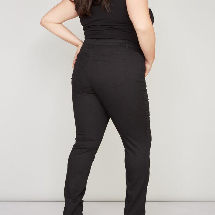 Pantalon slim 5 poches femme noir