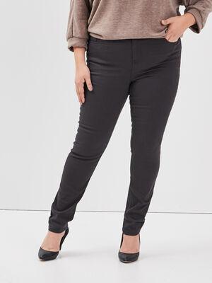 Pantalon slim grande taille gris fonce femmegt