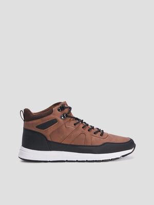 Baskets montantes Creeks marron homme
