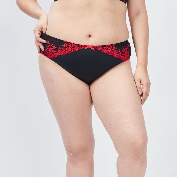 Culotte femme grande taille rouge