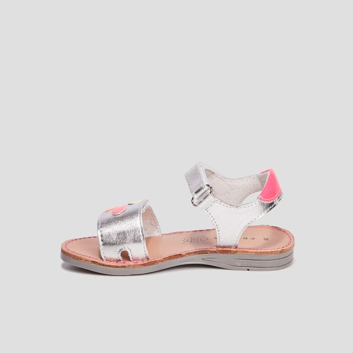 Sandales en cuir Creeks fille couleur argent
