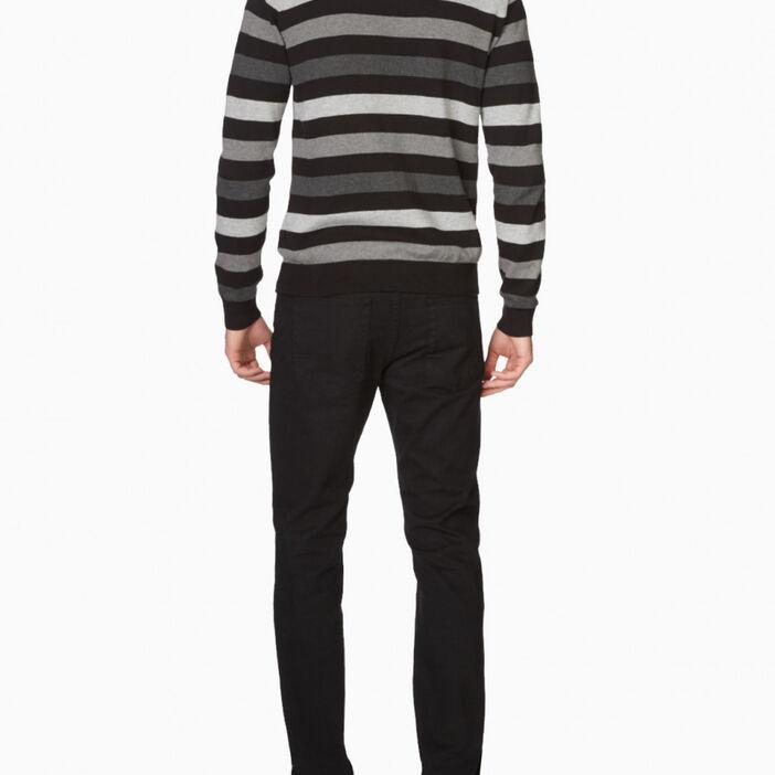 Pantalon regular coton uni homme noir