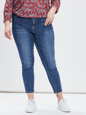 Jeans droit grande taille denim double stone femmegt