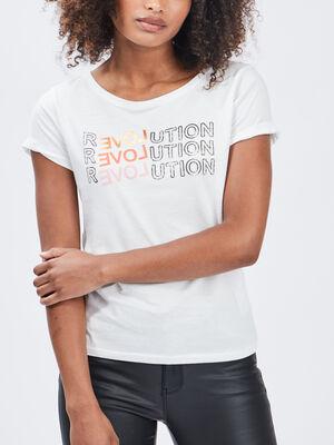 T shirt Liberto blanc femme
