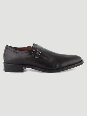 Chaussures en cuir avec boucle noir homme