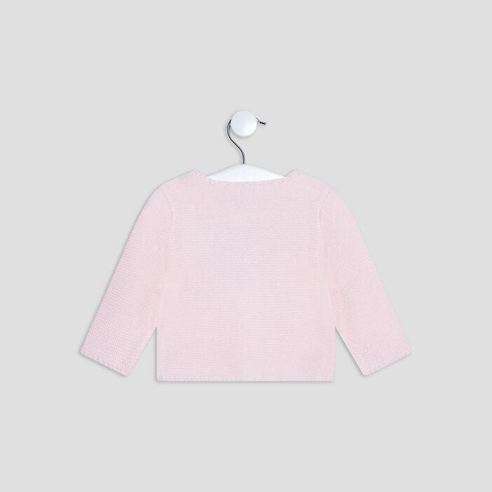 Gilet boutonné bébé fille rose clair