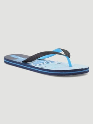 Tongs avec imprime ocean semelles bleu homme