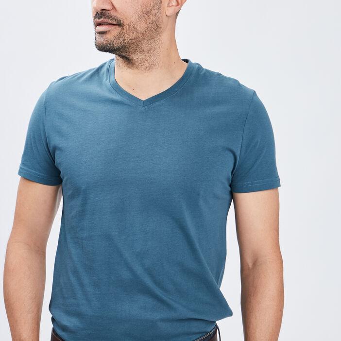 T-shirt manches courtes homme bleu canard