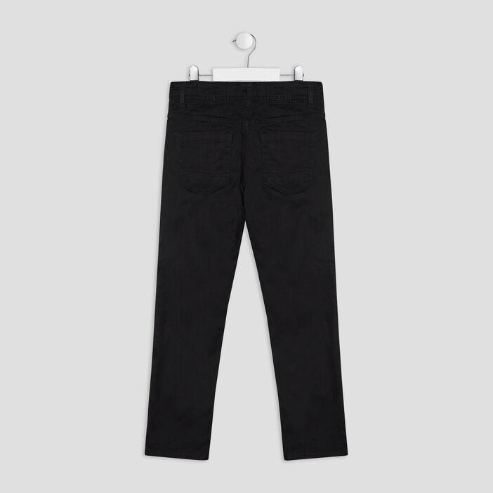 Pantalon regular garçon noir