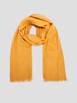 charpe jaune moutarde femme