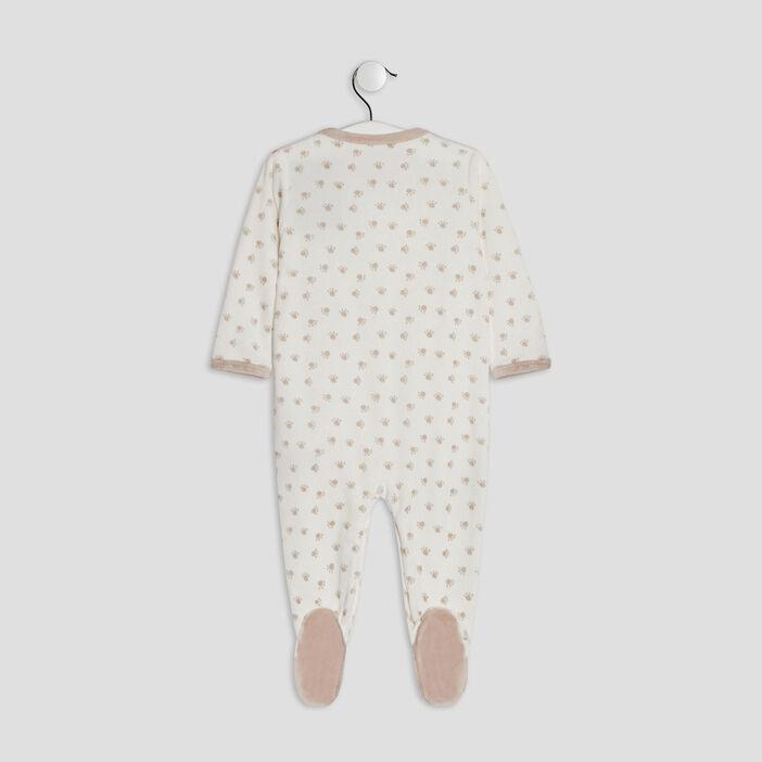 Dors-bien à motifs bébé ecru