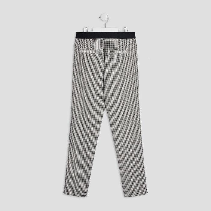 Pantalon droit élastiqué fille gris