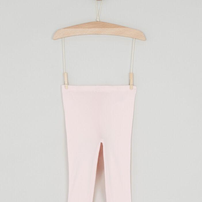 Pantalon legging bébé fille rose clair