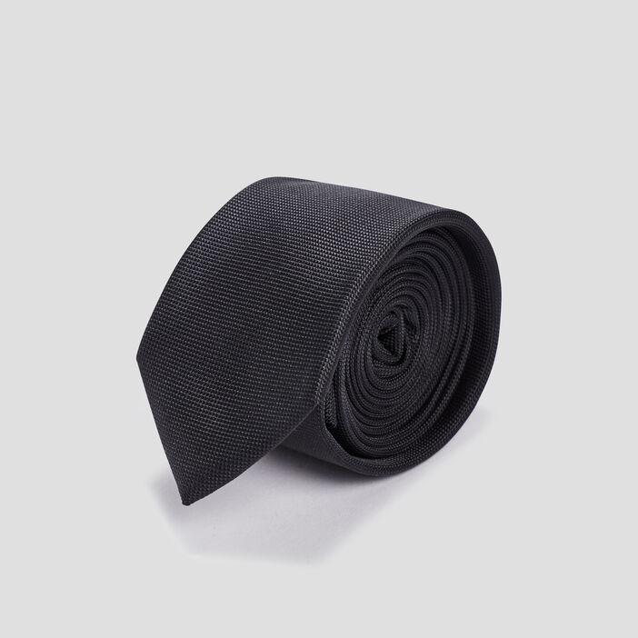 Cravate texturée homme noir
