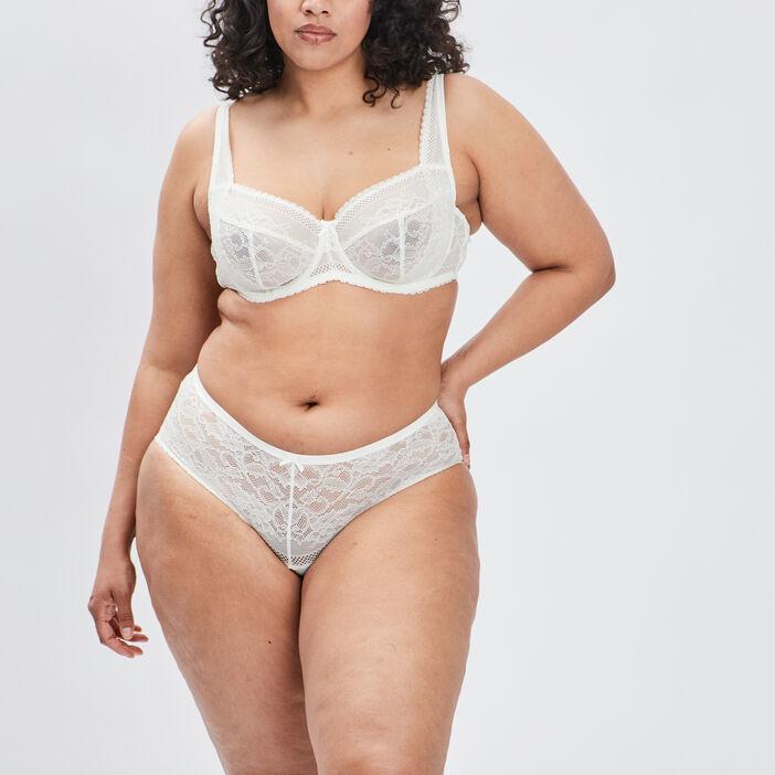 Soutien-gorge ampliforme femme grande taille ecru