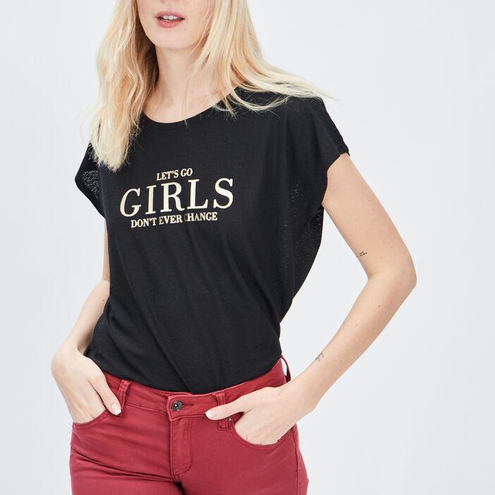 T-shirt Liberto femme noir