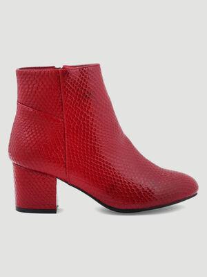 BOOTSBOTTINES rouge femme
