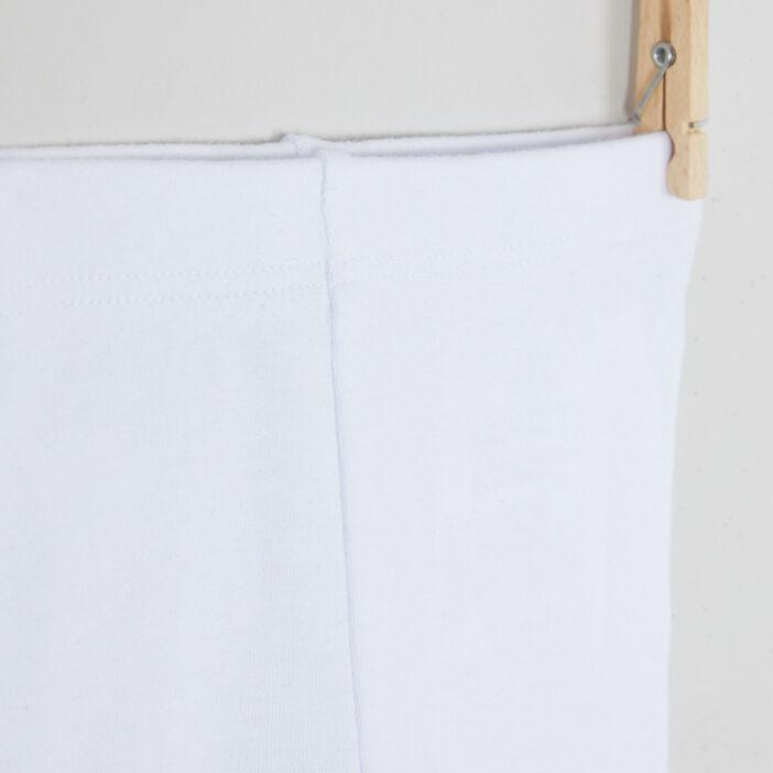 Legging uni coton majoritaire fille blanc
