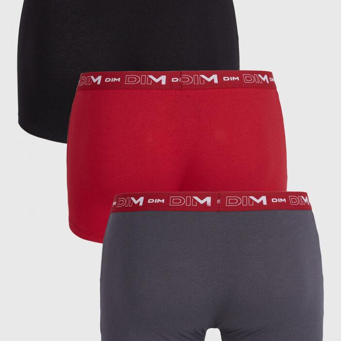 Lot de 3 boxers Dim homme rouge