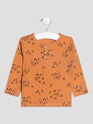 T shirt manches longues marron bebeg