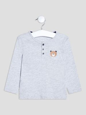 T shirt manches longues gris bebeg