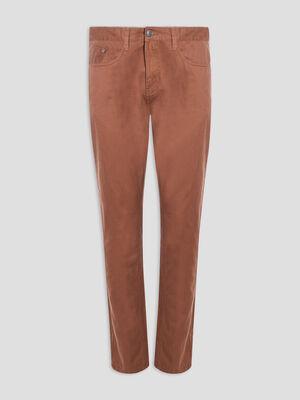 Pantalon droit marron clair homme