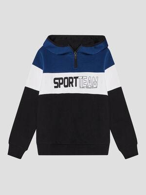 Sweatshirt noir garcon