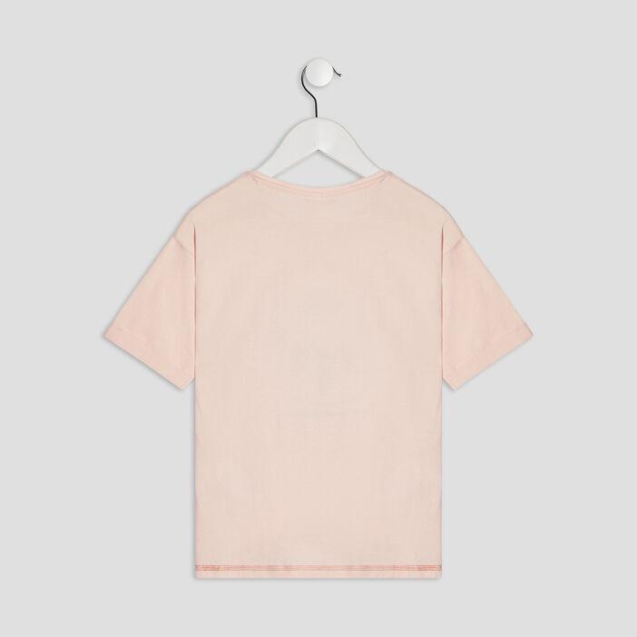 T-shirt Les Aristochats fille rose poudrée