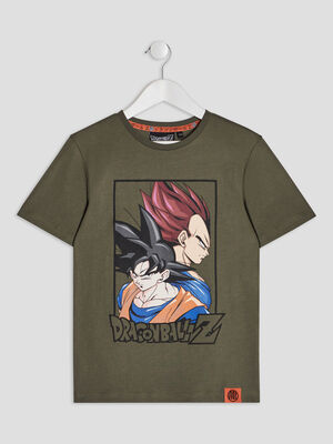 T shirt Dragon Ball Z vert kaki garcon