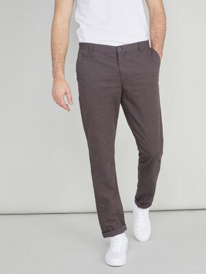 Pantalon droit uni gris fonce homme