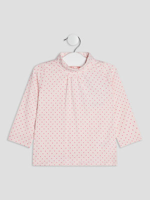 T shirt manches longues rose clair bebef