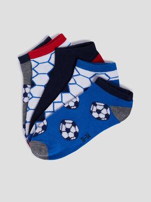 Lot 5 paires socquettes multicolore garcon