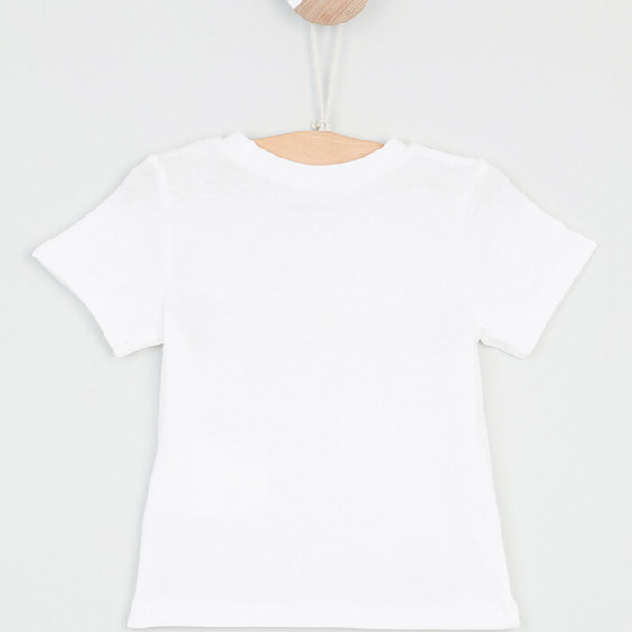 T-shirt Pat et Ripaton bébé garçon ecru