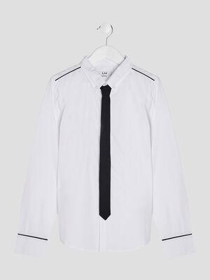 Chemise avec cravate blanc garcon
