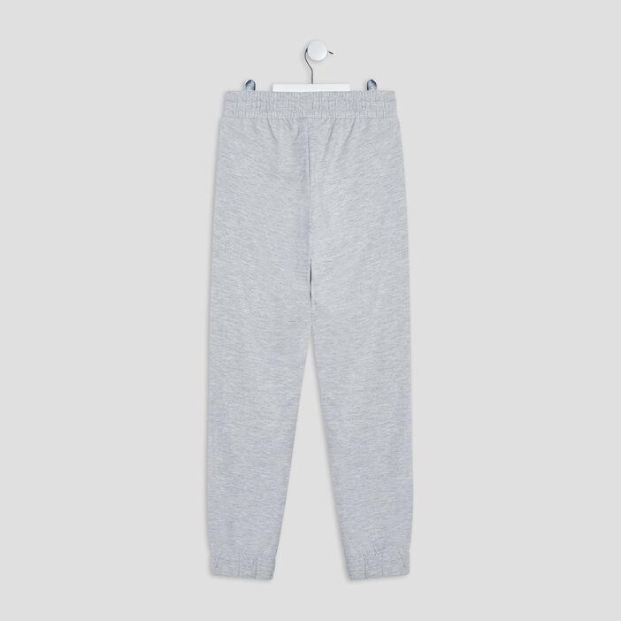 Pantalon jogging fille gris