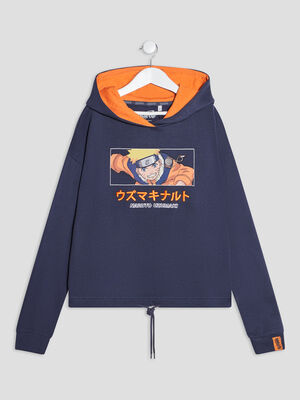 Sweat a capuche Naruto gris femme