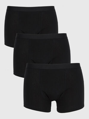 Lot de 3 boxers coton noir homme