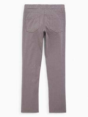 Pantalon droit uni gris fille