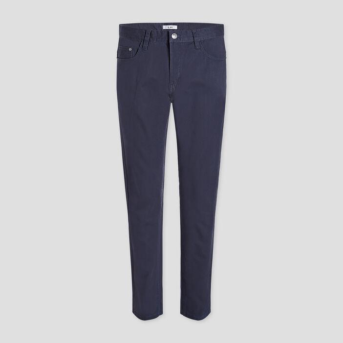 Pantalon droit homme bleu marine