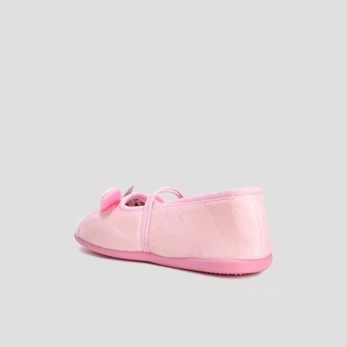 Chaussons ballerines fille rose