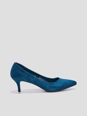 Escarpins a talons bleu femme