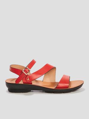 Sandales a talons rouge femme