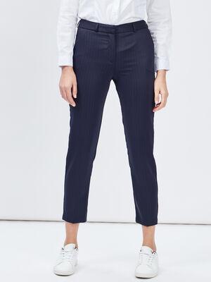 Pantalon droit 78eme bleu marine femme
